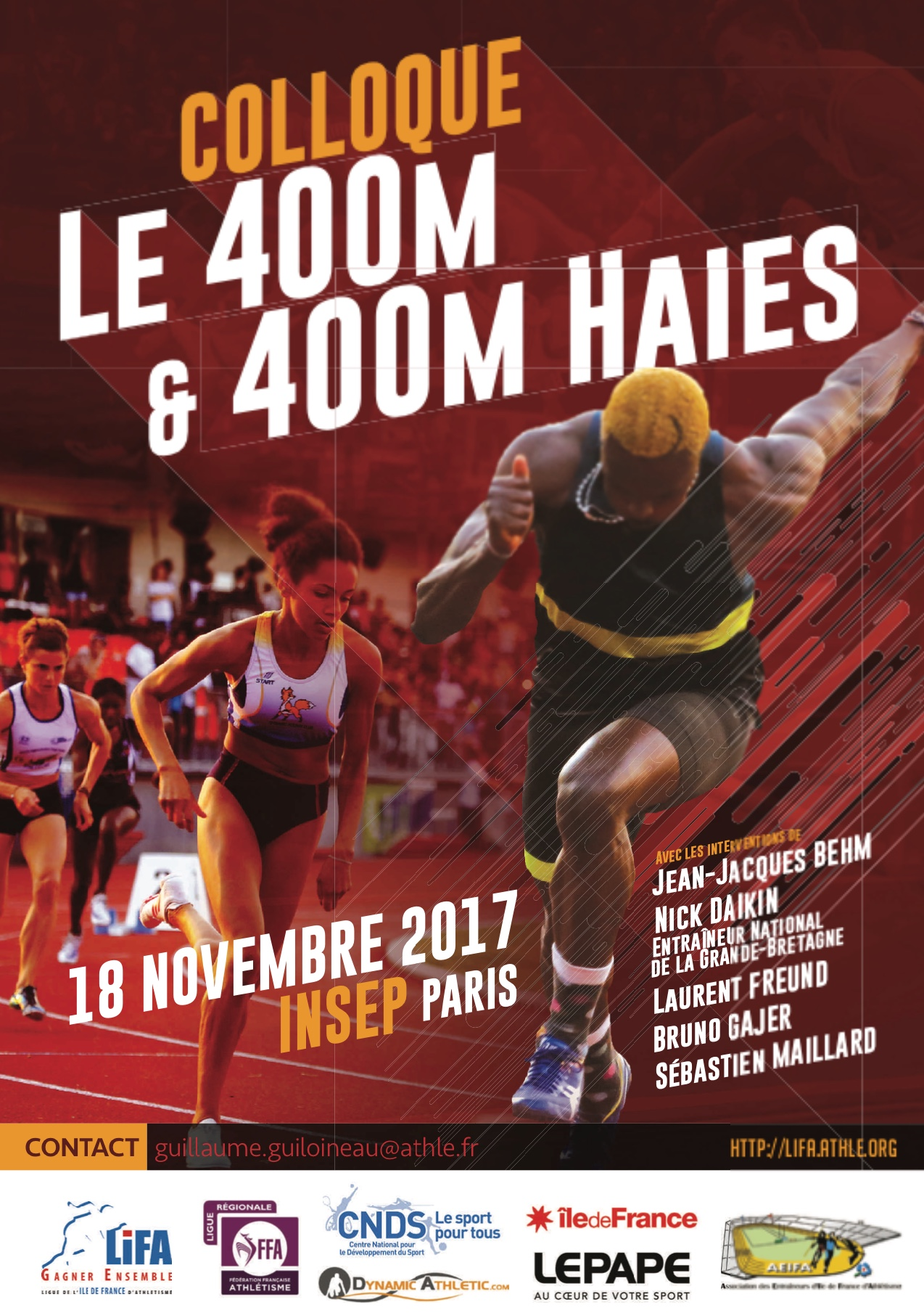 Colloque International 400m – 400m haies